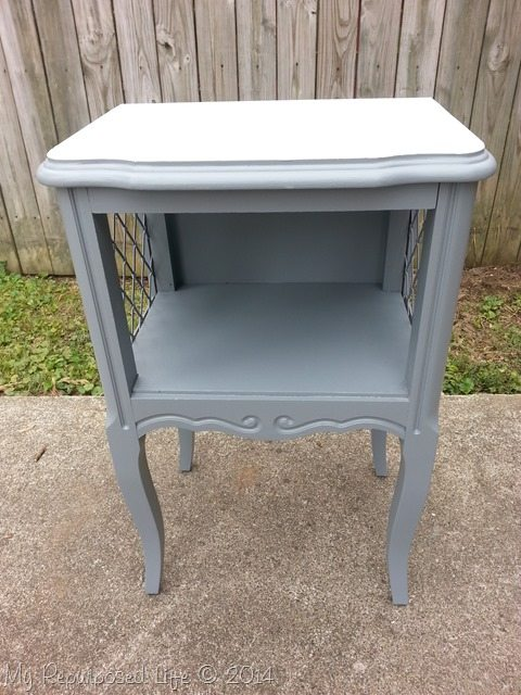 gray-french-provincial-side-table