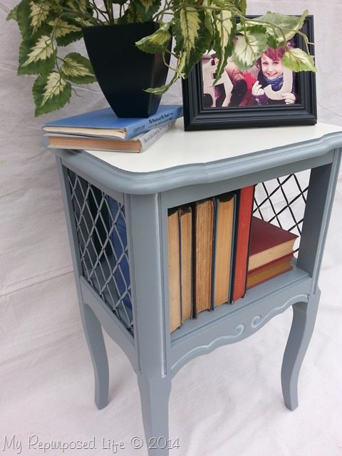 gray-white-french-provinicial-side-table