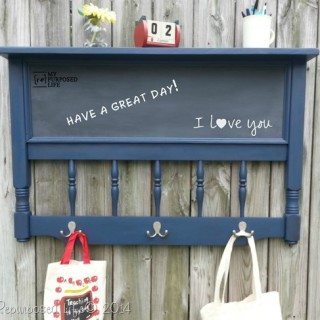 headboard chalkboard coat rack