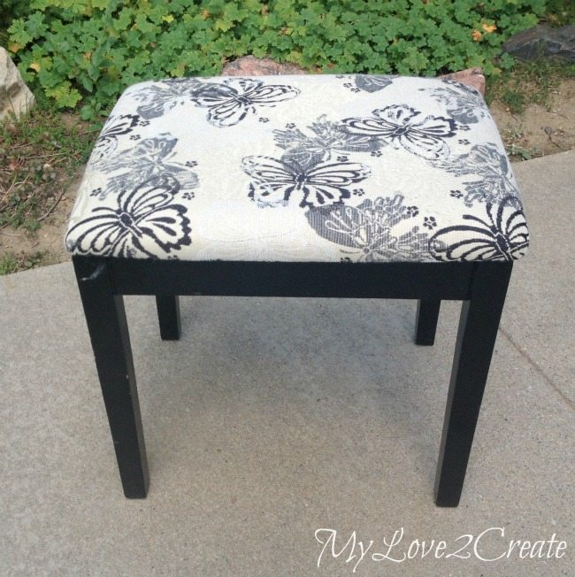 Upholstered bench before