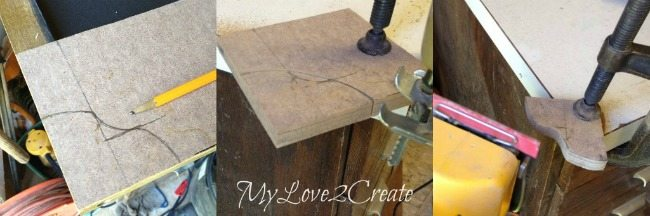 Cutting chipboard 4 at a time with the jigsaw