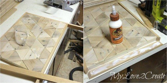 Adding edge trim to pallet top table