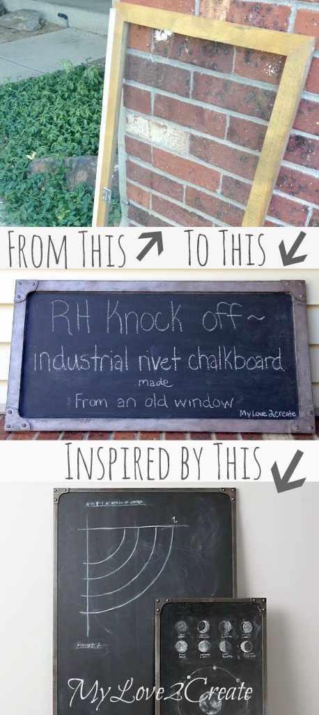 Industrial Rivet chalkboard Restoration Hardware Knock off