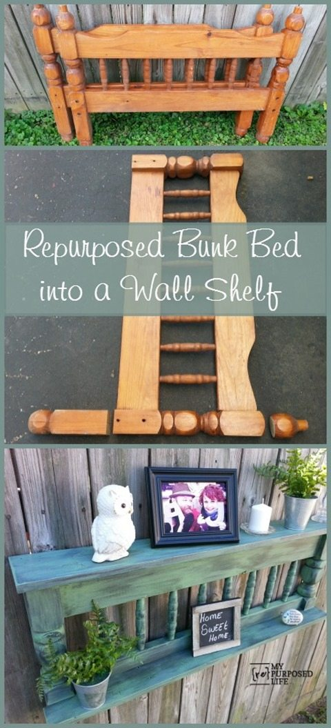 MyRepurposedLife-repurposed-bunk-bed-wall-shelf