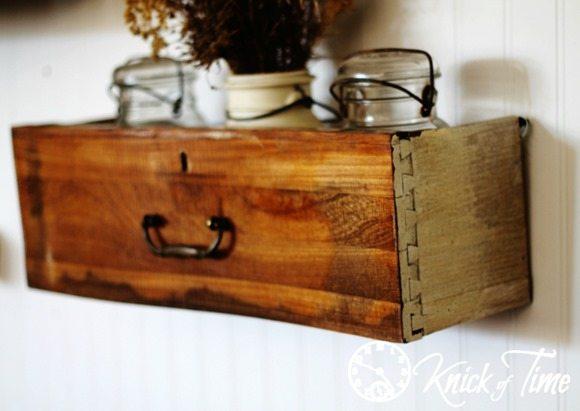 Repurposed-Drawer-Storage-Shelf