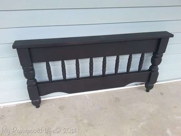 bunk bed repurposed coat rack black primer
