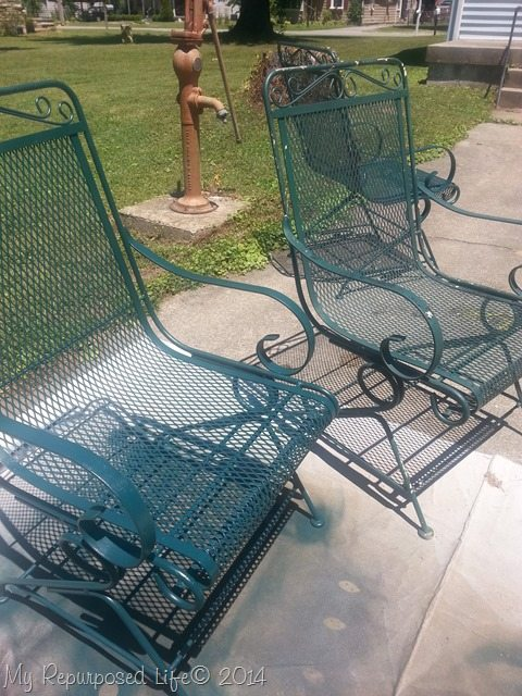 Metal Patio Chairs. Metal Patio Chairs Repurposed Life