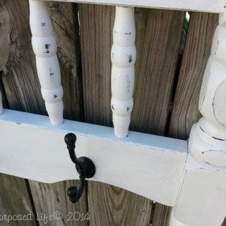 DIY Coat Rack Repurposed Bunk Bed