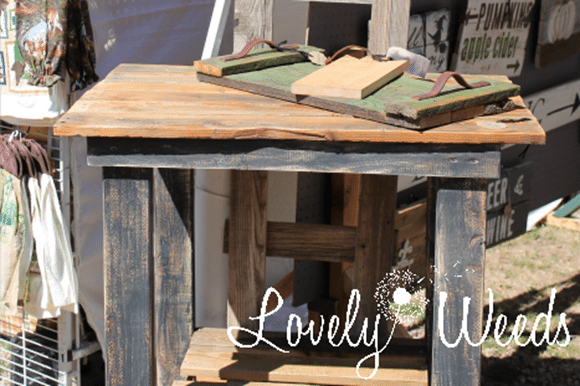 Lovely Weeds Rustic Workbench