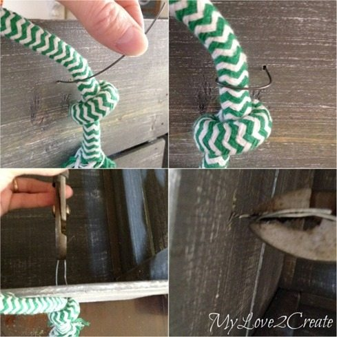 adding rope handles with wire
