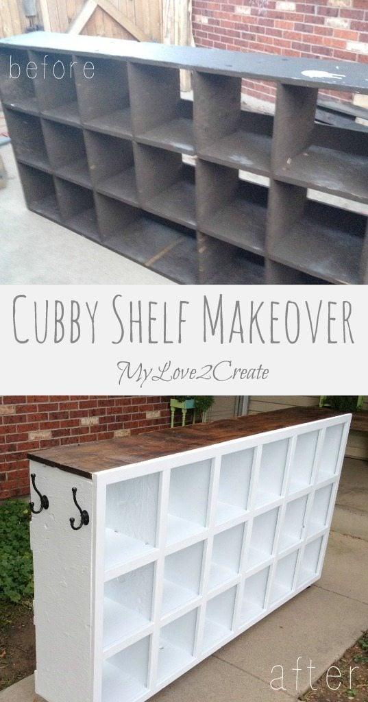 Cubby Shelf Makeover