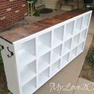 Cubby Shelf Makeover