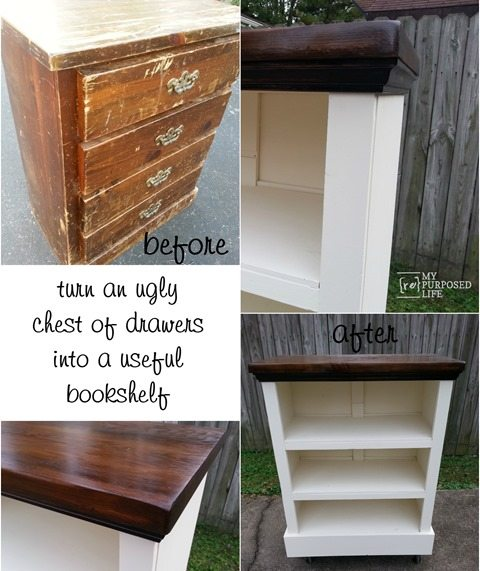 Chest Of Drawers Bookshelf My Repurposed Life