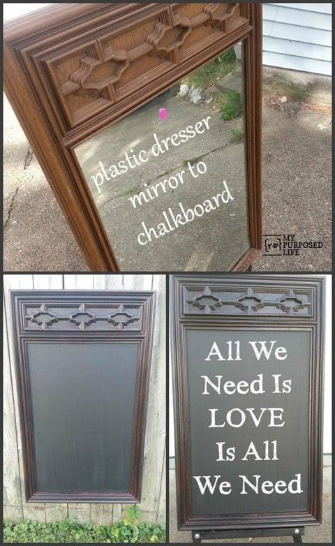 MyRepurposedLife-plastic-mirror-repurposed-chalkboard