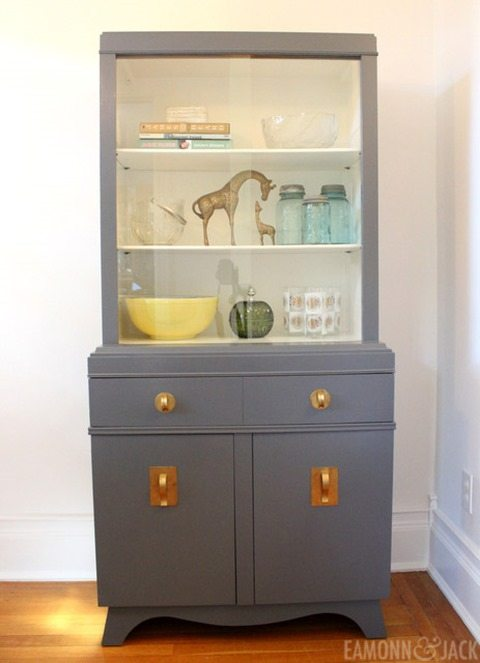 Painted-china-cabinet