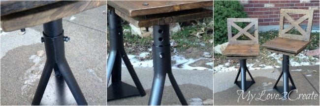 adjustable car jack Rustic Industrial kid Chairs