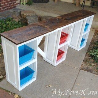 Repurposed Cabinet Doors into a Desk