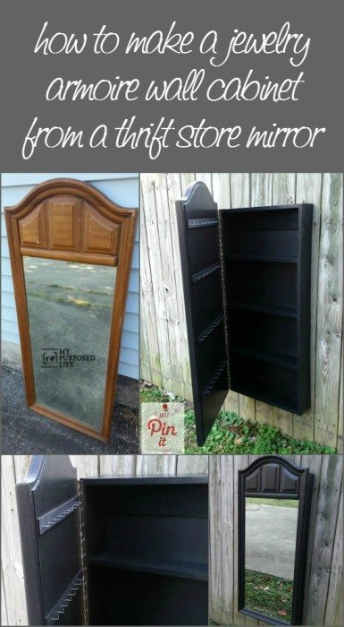 Mirror Jewelry Armoire My Repurposed Life