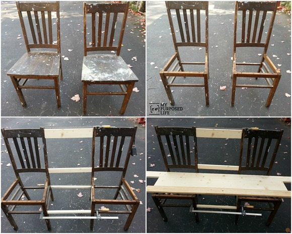 double-chair-bench-design
