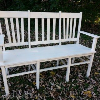 Repurposed Chair Bench