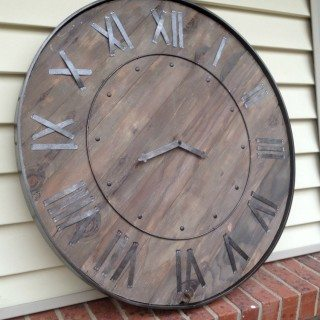 Large Rustic Clock