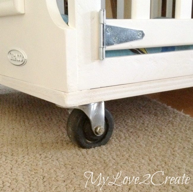 MyLove2Create: Repurposed Furniture turning a Crib into Dog Crate