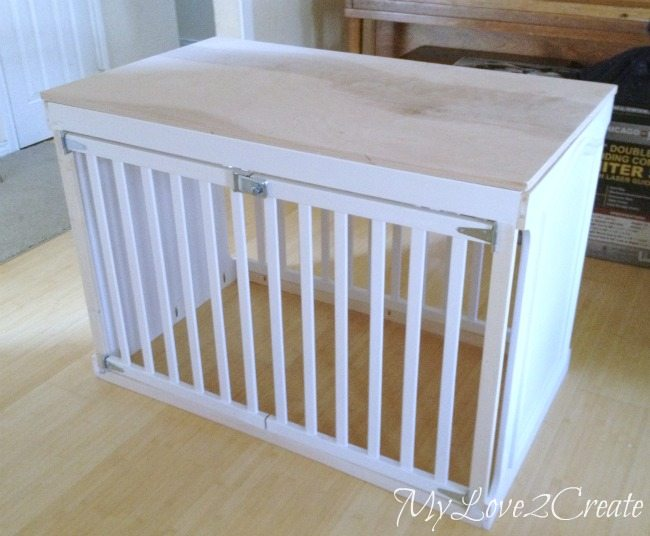 MyLove2Create: Repurposed Crib into Dog Crate
