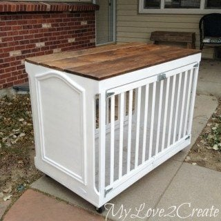 Repurposed Crib Dog Crate