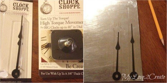 MyLove2Create, Large Rustic Clock