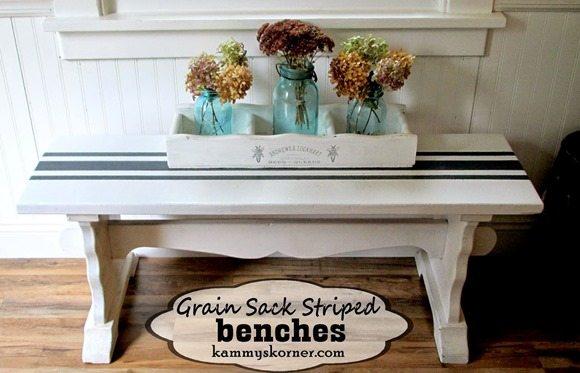 grain-sack-striped-benches