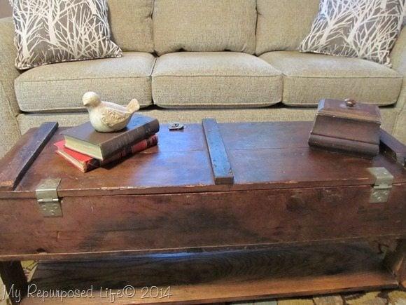 vintage ammo box coffee table