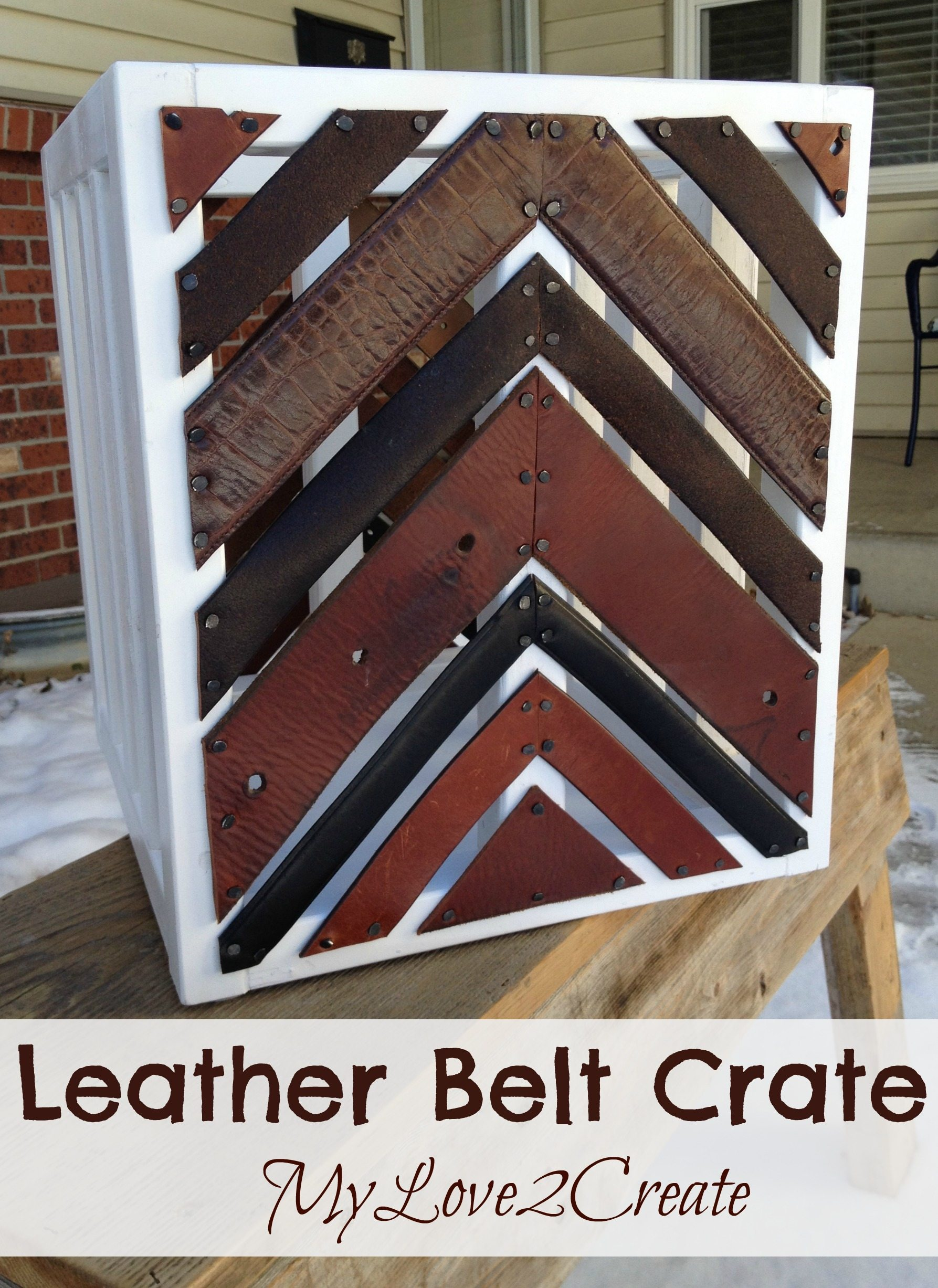 MyLove2Create leather belt crate