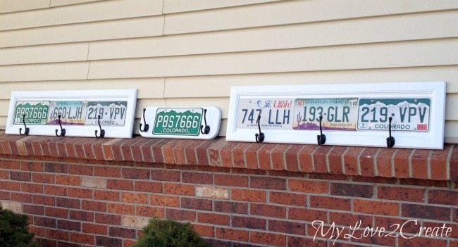 license plates before