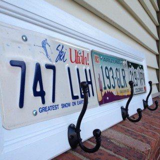 License Plate Coat Racks
