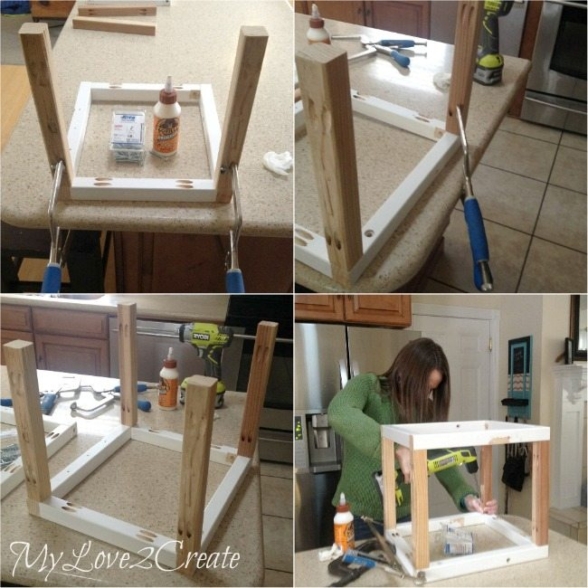 attaching crate frame with side boards