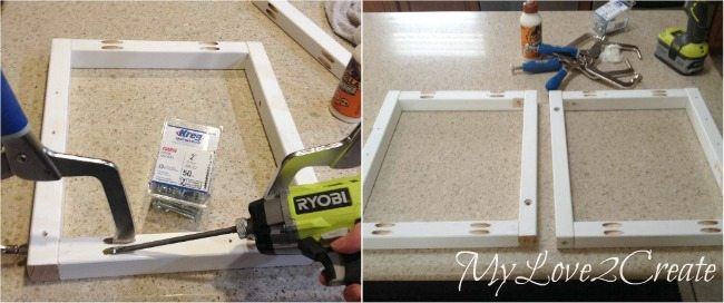 Making front and back frames with pocket holes