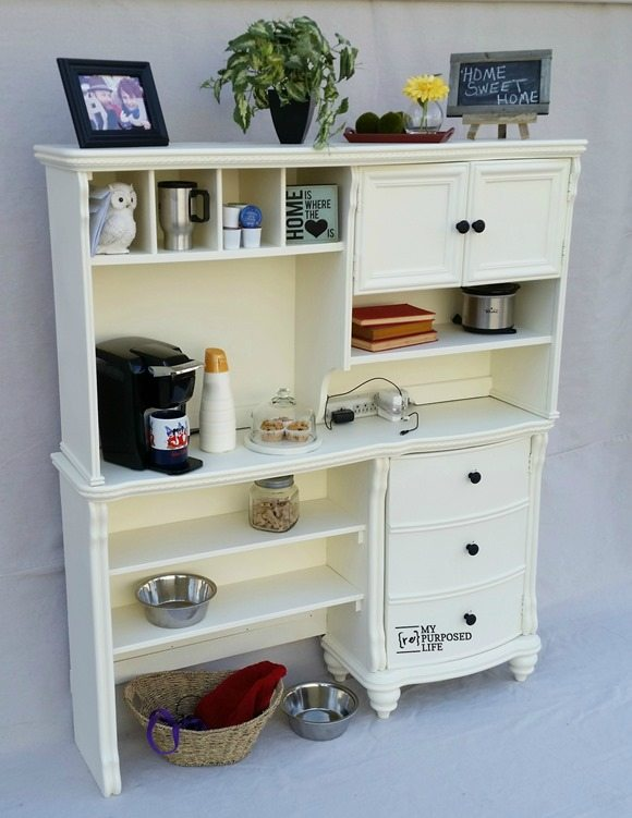 MyRepurposedLife Modified Kitchen Hutch Desk
