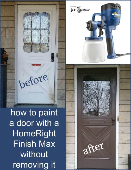 MyRepurposedLife-paint-storm-door-Finish-Max & Finish Max Paint Sprayer Storm Door - My Repurposed Life®