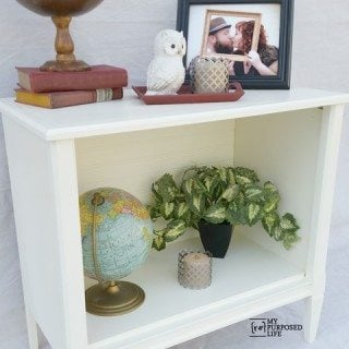 Repurposed tv Stand Side Table