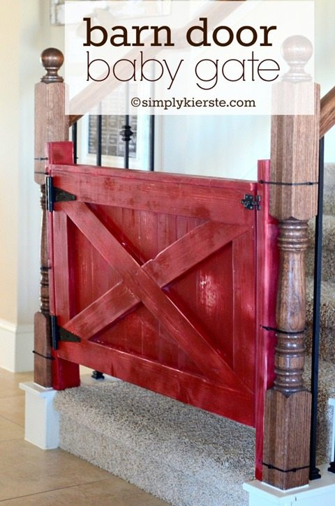 faux-barn-door-baby-gate-stairs