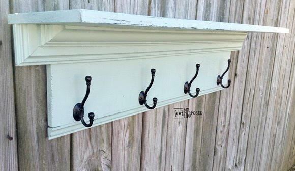 green-crown-molding-wall-shelf-coat-rack