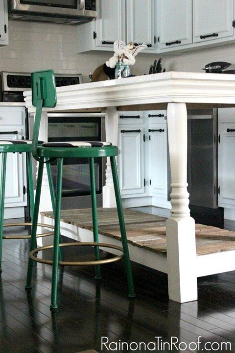 vintage-modern-rustic-kitchen-island