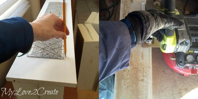 cutting off excess from drawer faces