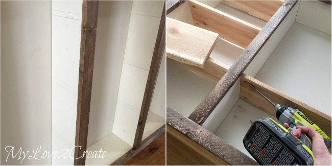 attaching shelve with pocket holes