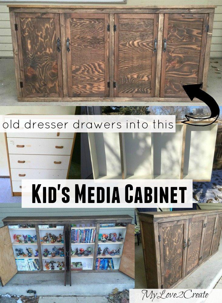 MyLove2Create, kids old drawer media Cabinet
