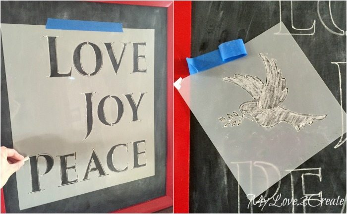 using stencils for chalkboard art
