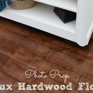 Hardwood Floor Photo Prop