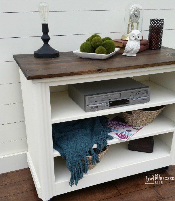 Repurposed Dresser tv stand - My Repurposed Life®