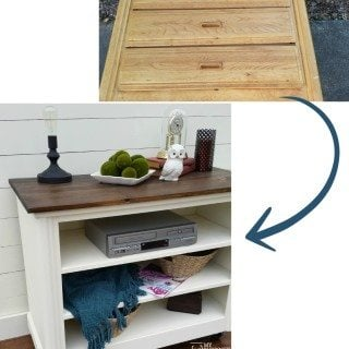 Repurposed Dresser tv stand