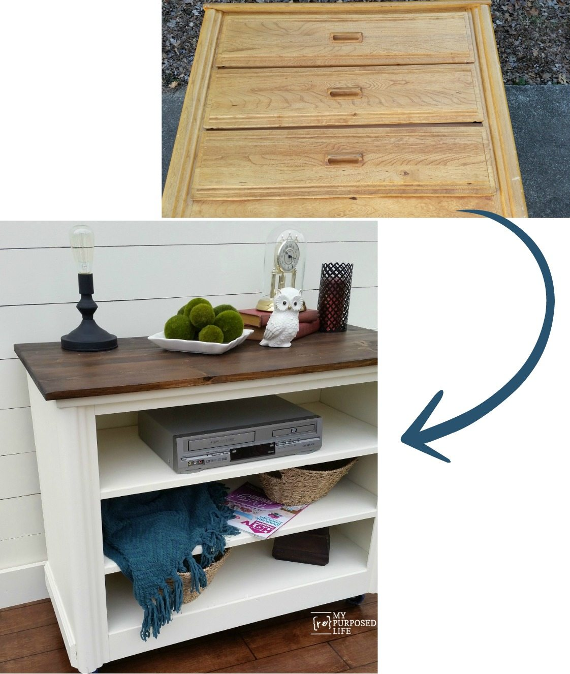 17 Best Images About Repurposed Furniture On Pinterest: Repurposed Dresser Tv Stand